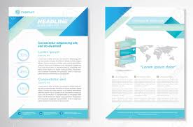template stock vector illustration and royalty template brochure design layout template size a4 front page and back page
