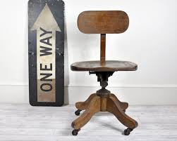 vintage swivel desk chair antique deco wooden chair swivel
