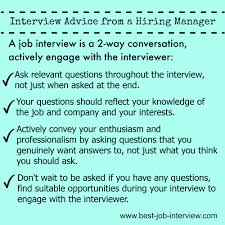 perfect your job interview technique enagage in your interview