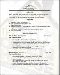 real estate resume examples samples free edit   wordreal estate resume