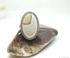 Кремень белый редкий, стальное гипоаллергенное <b>кольцо</b> ...