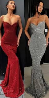 sexy spaghetti straps mermaid burgundy prom dresses long 2019 elegant plus size african formal party gowns graduation gala dress
