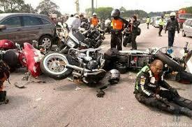 Hasil gambar untuk kecelakaan motor