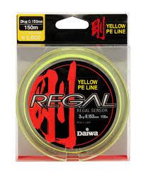 леска плетеная daiwa regal sensor цвет желтый 0 153 мм 150 м