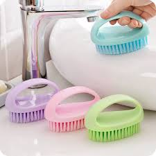 <b>1pc Colorful</b> Egg Shape Multi functional Soft <b>Hair Brush</b> Cleaning ...