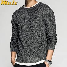 100% Cotton Twist Knit <b>Sweater Pullovers Men 2018</b> Autumn Winter ...