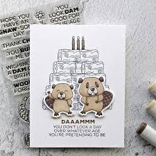 <b>AZSG</b> Heartfelt Blessings/Funny Beaver <b>Clear Stamps</b>/<b>Seals For</b> DIY ...