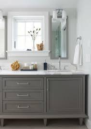 dark gray bathroom vanity interior