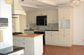 painted blue kitchen cabinets house: brown wood kitchen cabinets kuyaroom painted