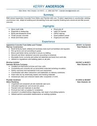 best apprentice concrete form setter and finisher resume example create my resume