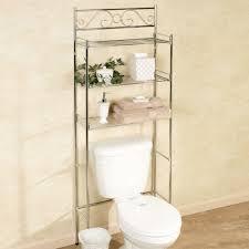bathroom space savers bathtub storage:  elegant scroll chrome bathroom space saver also bathroom space savers