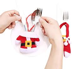 Knife And Fork Covers For Christmas Decoration ... - Amazon.com