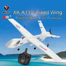 Original <b>WLtoys XK A110</b> 2.4G 565mm 3CH RC Airplane Fixed ...