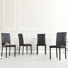 faux leather dining chair black: homesullivan bedford black faux leather dining chair set of