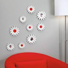 umbra wallflower wall decor white set: inviting wallflowers by umbra in living room areas for white mix light blue wall decor using
