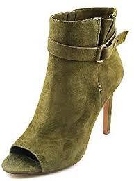 BCBGeneration Carolena <b>Women Peep</b>-<b>Toe</b> Suede Ankle <b>Boot</b>