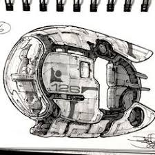 I found an empty sketchbook, so I&#39;m <b>filling</b> it with one spaceship ...