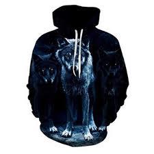 Sweatshirt Men's, Black Wolf Head 3D Digital Print ... - Amazon.com