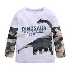 Buy XuBa Kids Boys <b>Cartoon</b> Dinosaur <b>Pattern Printing</b> Cotton Long ...