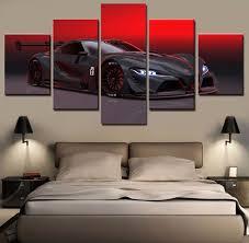 <b>5</b> Panel <b>HD Print Large</b> Sport Car Cuadros Decoracion Paintings on ...