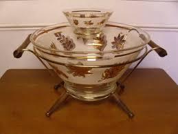 <b>Large</b> glass bowl, <b>Wooden handles</b>, Wooden cradle