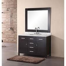 element contemporary bathroom vanity set: design element  inch lindon modern bathroom vanity set with mirror