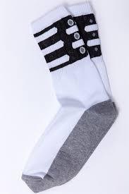 Носки SKILLS Clamp Белый/Черный - Бордшоп#1