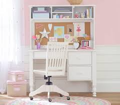 Pottery Barn Girls Bedroom Catalina Storage Desk Large Hutch Study Desk Homework Desk