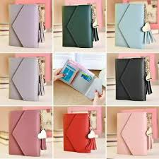 Mini <b>Korean Women's Leather</b> Wallet <b>Short</b> Card Holder <b>Leather</b> ...