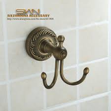 antique brass wall mount bathroom towel coat robe hook hanger 3211601 brass coat hook pieces