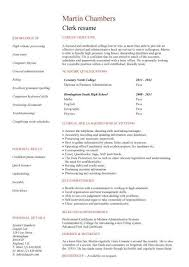 no work experience clerk resume resume without experience