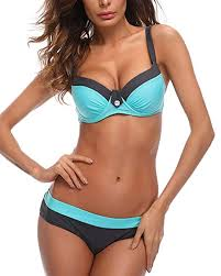 KISSLACE <b>Women Bikini Sets</b> Push Up <b>Padded</b> Swimsuit Two ...