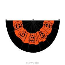 Happy <b>Halloween</b> Home <b>Outdoor Pumpkin Print</b> Fan Flag | Shopee ...