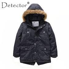<b>Detector Boys</b>' <b>Parka Jackets</b> Hooded Warmly Children Cotton ...
