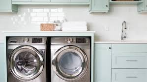 decoration chic laundry room decorating ideas design with wooden pale blue cupboard on small white chic laundry room