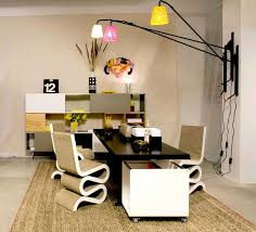 decorationsawesome modern home office design ideas with rectangle black painted computer desk combine round awesome black painted
