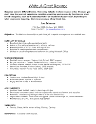 tips on a good resume tk category curriculum vitae