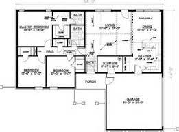Economic Floor Plans   VAline Bedroom Ranch House Plans