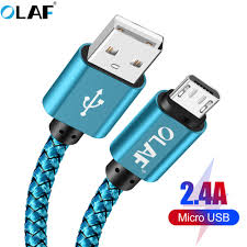<b>OLAF</b> Micro <b>usb</b> cable <b>5V 2.4A</b> Braided Quick charger Fast charging ...
