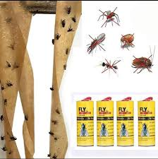 <b>4 Rolls</b>/<b>Pack</b> Sticky Fly Paper Eliminate Flies <b>Insect Bug</b> Glue Paper ...