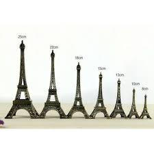 Metal Alloy Eiffel <b>Tower</b> Model <b>Ornaments</b> Figurine Paris Travel ...