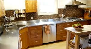 stainless steel countertops kitchen counter