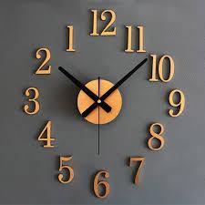 Fashion 3D DIY Wall Clock <b>Metallic Stereo</b> Clocks Back In Time ...