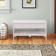 Dark <b>Wood Storage Bench</b> | Wayfair