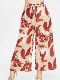 Купить ZAFUL Plus Size Print Wide Leg <b>Palazzo</b> Pants в каталоге ...