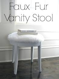 inspiration bathroom vanity chairs: my inspiration piece was this faux fur glam vanity stool from pottery barn teen selling for