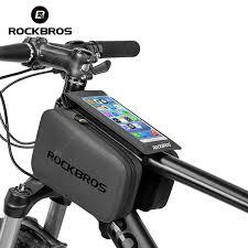 ROCKBROS <b>2</b> IN 1 Waterproof Touch Screen Bicycle Bag <b>MTB</b> ...