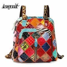 AEQUEEN <b>Women</b> Genuine Leather Backpacks <b>Small</b> Rucksack ...