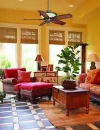 tropical living rooms: living room tropical living rooms tropical living rooms with yellow walls and bamboo blinds