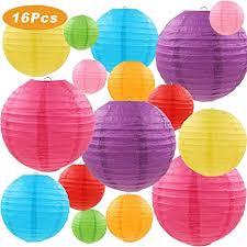 LURICO 16 Pcs Colorful Paper Lanterns (Multicolor ... - Amazon.com
